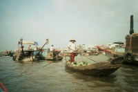 Floating markets Mekong Delta