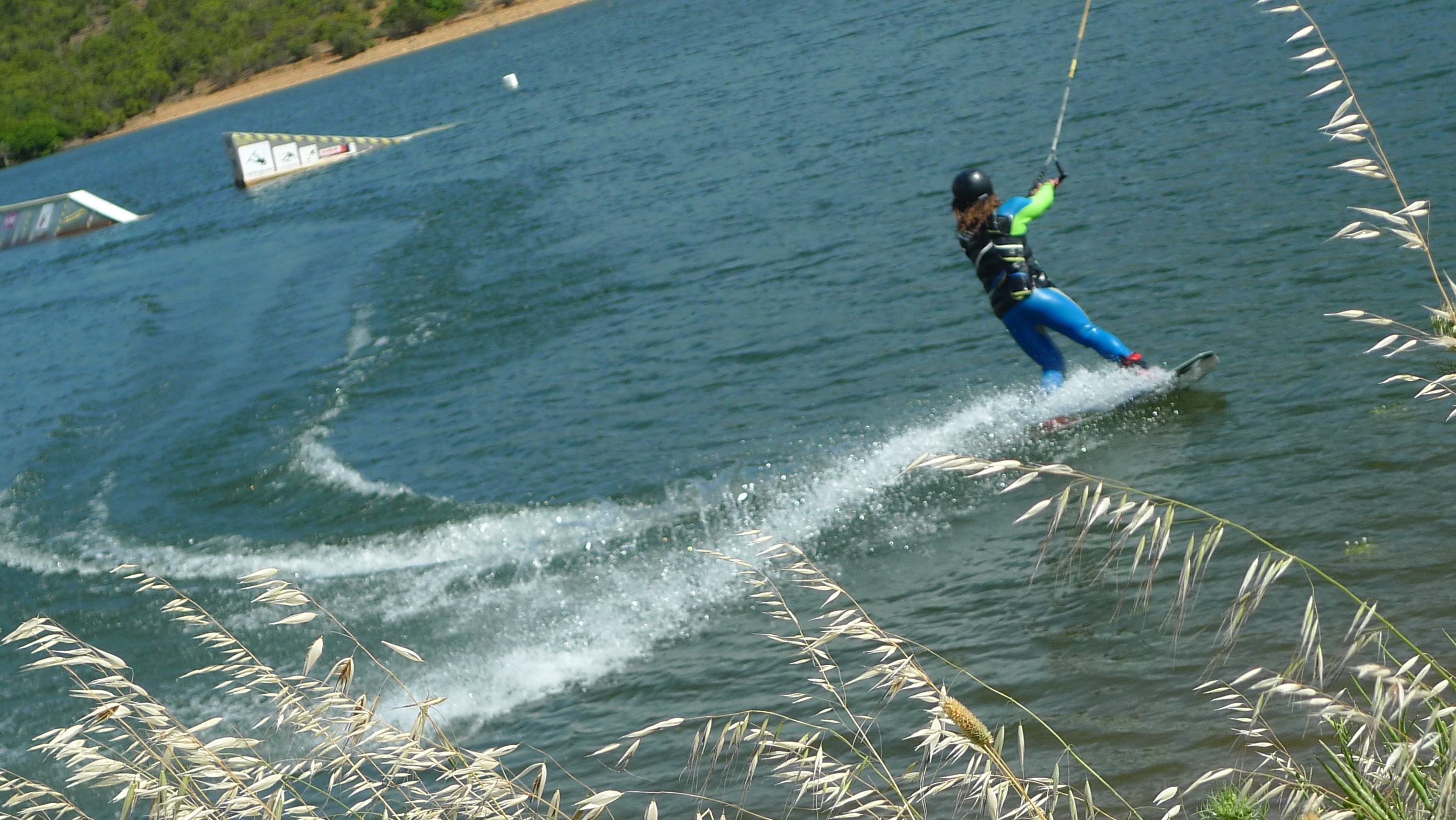 Wake-boarding at Lago di Medau Zirmilis